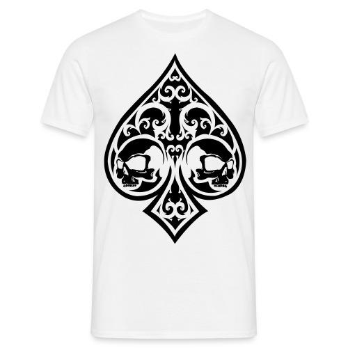Ace of Spades Men's shirt - white/black - Men's T-Shirt