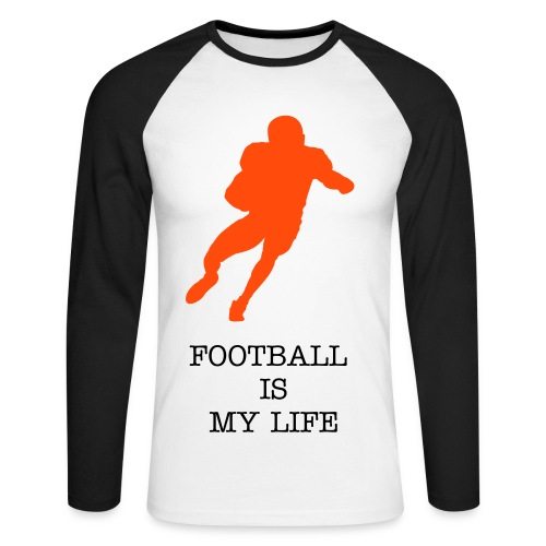 MY LIFE - T-shirt baseball manches longues Homme