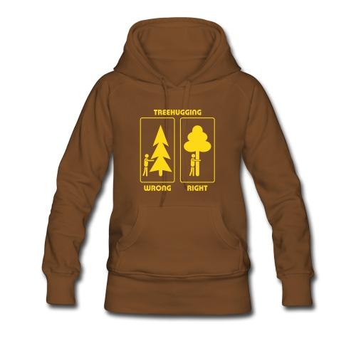 Shirt Wald Baum Bäume Treehugging Natur Treehugger tree hugger Umwelt Umweltschutz - Frauen Premium Hoodie