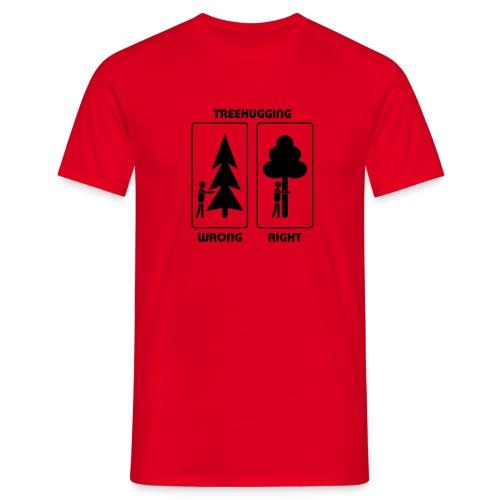 Shirt Wald Baum Bäume Treehugging Natur Treehugger tree hugger Umwelt Umweltschutz - Männer T-Shirt