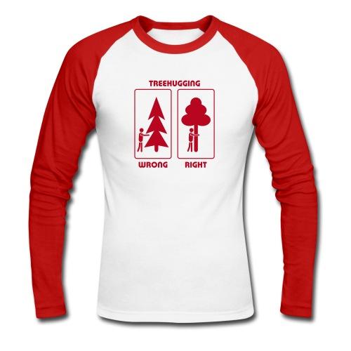 Shirt Wald Baum Bäume Treehugging Natur Treehugger tree hugger Umwelt Umweltschutz - Männer Baseballshirt langarm