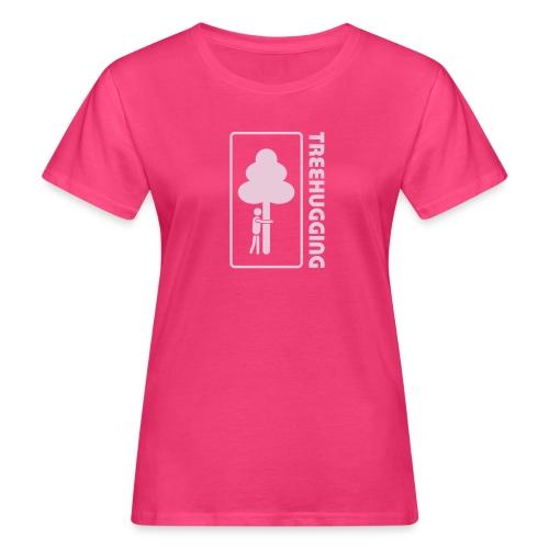 Shirt Wald Baum Bäume Treehugging Natur Treehugger tree hugger Umwelt Umweltschutz - Frauen Bio-T-Shirt