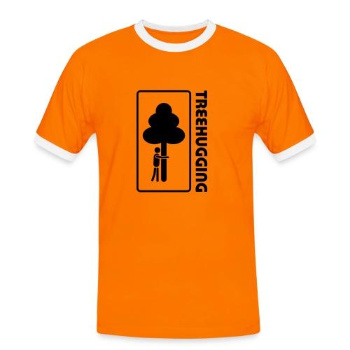 Shirt Wald Baum Bäume Treehugging Natur Treehugger tree hugger Umwelt Umweltschutz - Männer Kontrast-T-Shirt