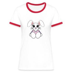T shirt femme lapin - T-shirt contrasté Femme