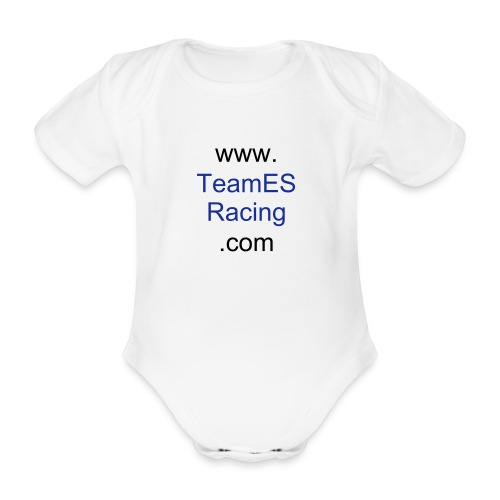Official Team ES Racing Baby Body Suit - Organic Short-sleeved Baby Bodysuit