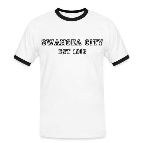 SWANSEA CITY EST 1912 - Men's Ringer Shirt