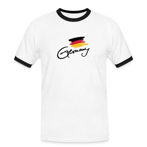 Germany - Männer Kontrast-T-Shirt