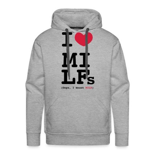 I heart Milfs - Felpa con cappuccio premium da uomo