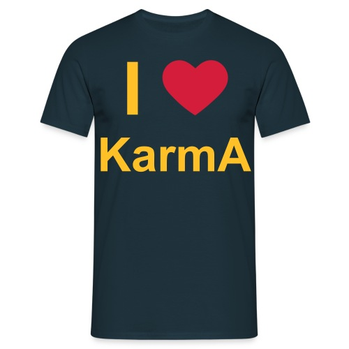 I Love Team KarmA T-shirt - Mannen T-shirt