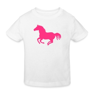 Shirt Pferd Pony Horse wild wildpferd Reiter Reiterin Warmblut Kaltblut Reiten mustang  wildfang tiershirt shirt tiermotiv - Kinder Bio-T-Shirt