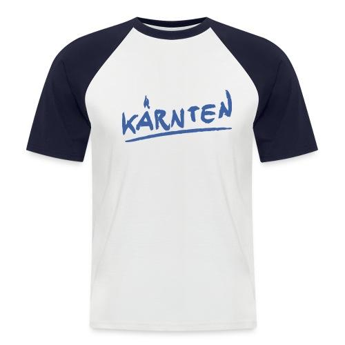Kärnten Baseballshirt rot/weiß Kurzarm - Männer Baseball-T-Shirt