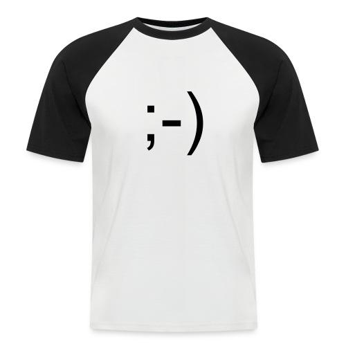 Smiley T - Kortermet baseball skjorte for menn