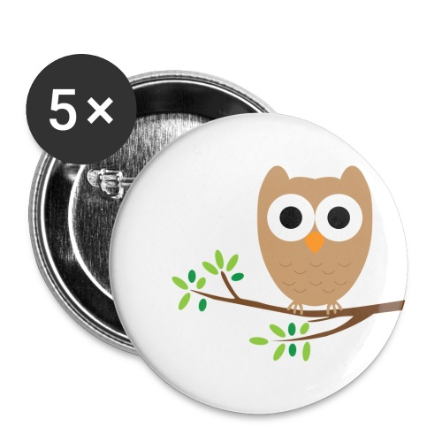 Owl Badges Medium - Buttons medium 32 mm