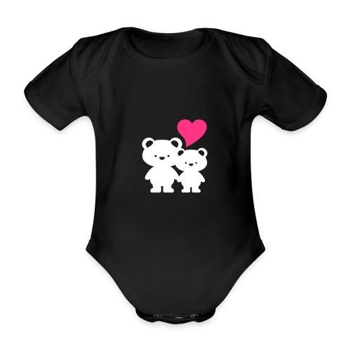 Babybody Bär - Baby Bio-Kurzarm-Body