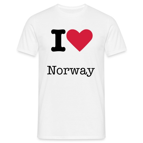 I love Norway - T-skjorte for menn