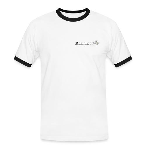 Koszulka Ekstra - Koszulka męska z kontrastowymi wstawkami