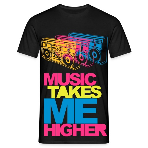 Music takes Me Higher - Männer T-Shirt