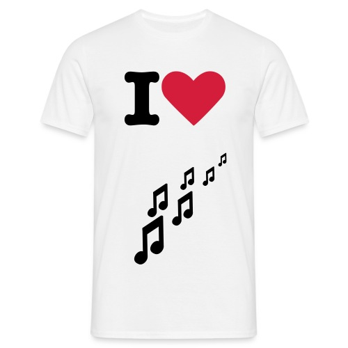 Music Love - Mannen T-shirt