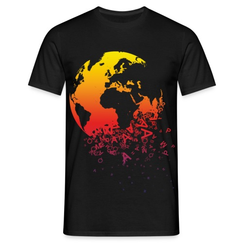 Q-STYLE World Dissolves - Mannen T-shirt