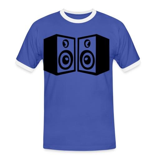 Kurzärmiges Männer T-Shirt  - Männer Kontrast-T-Shirt