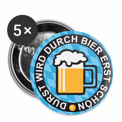 Durst wird durch Bier erst schön! Witziger Anstecker Bier Button Buttons - Buttons mittel 32 mm (5er Pack)