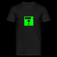 T-Shirts ~ Men's T-Shirt ~ Floppy Disk Monster Green (8-bit Guerrilla)