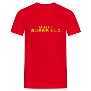 8-bit Guerrilla red/yellow - Men's T-Shirt