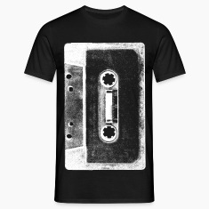 black and white tape cassette image tee shirt