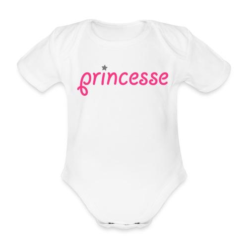 Body Princesse - Body bébé bio manches courtes