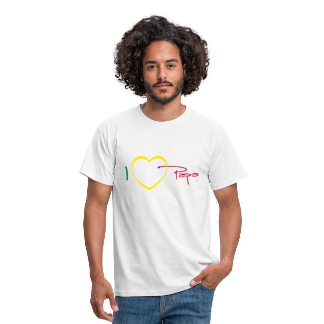 T-shirt Classique Homme I love papa, Rasta