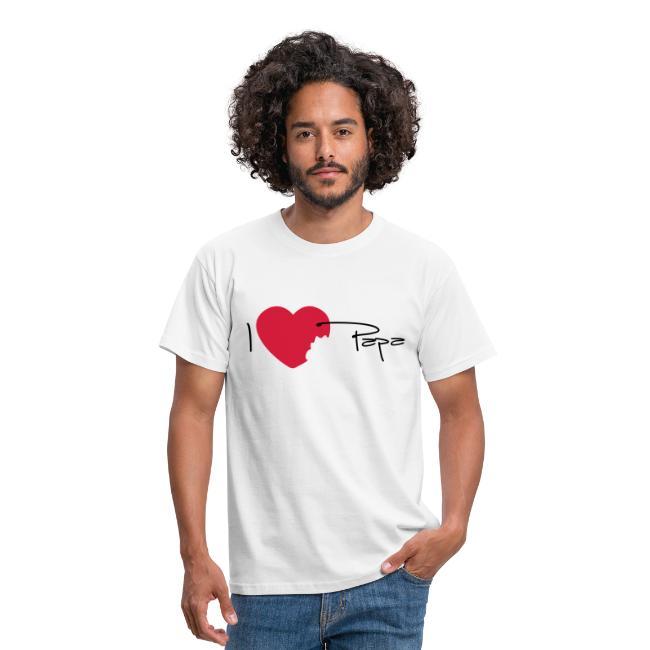 T-shirt Classique Homme I love papa