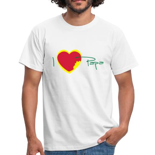 T-shirt Classique Homme I love papa, Rasta - T-shirt Homme