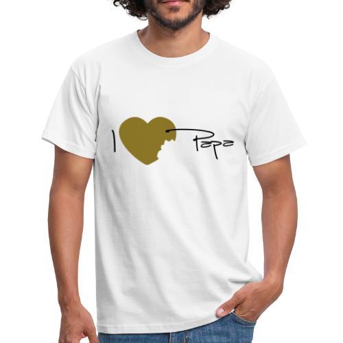 T-shirt Classique Homme I love papa - T-shirt Homme