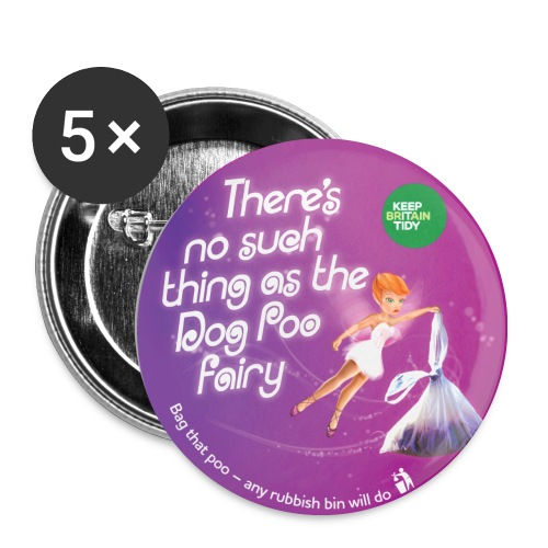 Badge - Dog Poo Fairy - Buttons medium 32 mm