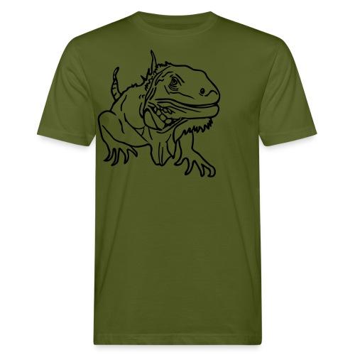 Green Organic t-shirt with Iguana - Men's Organic T-Shirt