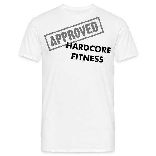 Hardcore fitness APPROVED - think like a machine - Herre-T-shirt