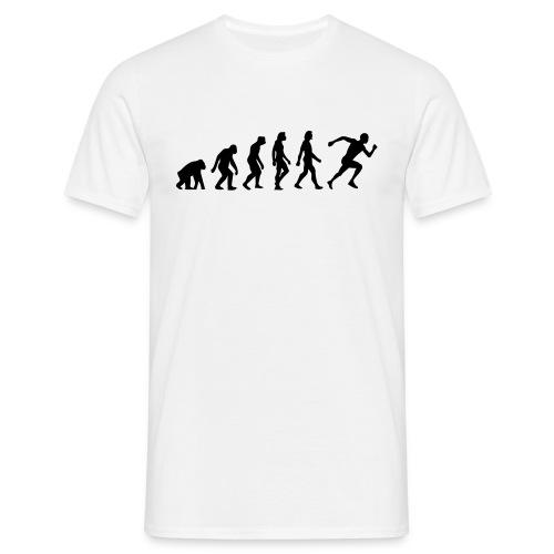running evelution and thinking - Men's T-Shirt