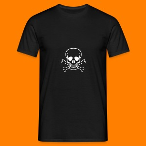 skull and cross bones tee - Men's T-Shirt
