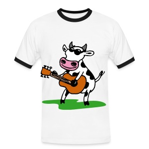 Guitar Cow T-Shirt - Men's Ringer Shirt