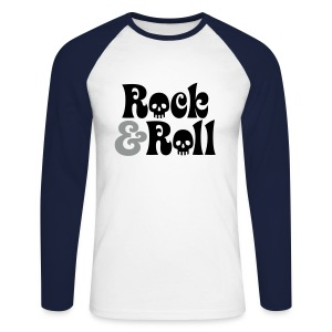 Rock & Roll Long Sleeved Top - Men's Long Sleeve Baseball T-Shirt