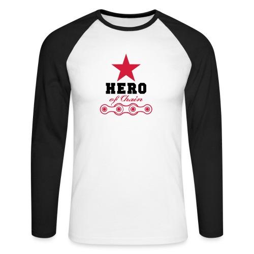 hero of chain - Männer Baseballshirt langarm
