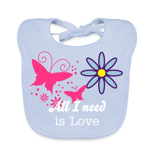 All I need is Love - Baby Organic Bib