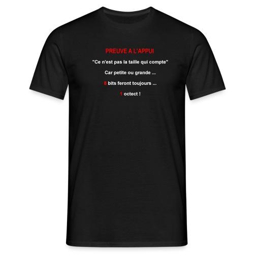 Preuve à l'appui - T-shirt Homme