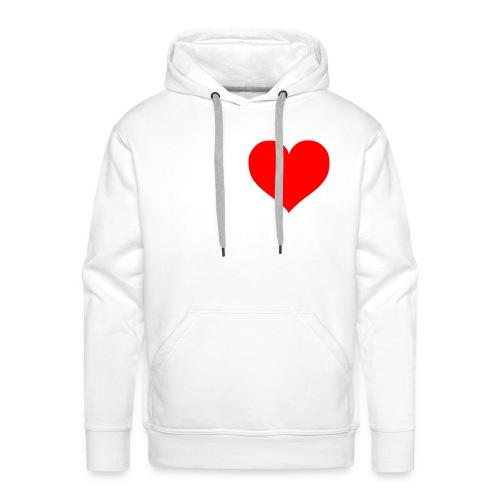 Herz am rechten Fleck Pulli - Männer Premium Hoodie