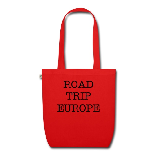 Tote bag roadtrip europe red - EarthPositive Tote Bag