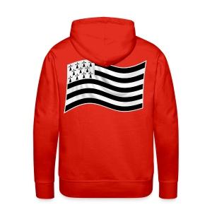sweatshirt drapeau Breton - Sweat-shirt à capuche Premium pour hommes