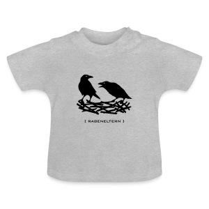 Shirt rabeneltern rabe raven vogel krähe feder nest flügel baby mutter vater tiershirt shirt tiermotiv - Baby T-Shirt