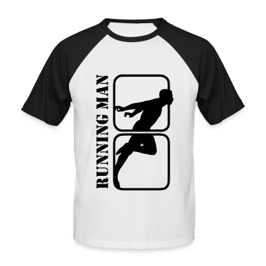 Running Man jogging sports motif T-Shirts