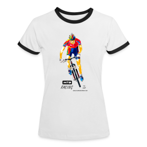 MTB RACING - Frauen Kontrast-T-Shirt