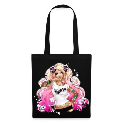 AsuROCKS GIRL Bag Black - Stoffbeutel